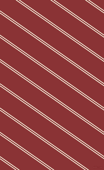 145 degree angles dual stripes line, 3 pixel line width, 4 and 69 pixels line spacing, Apricot White and Old Brick dual two line striped seamless tileable
