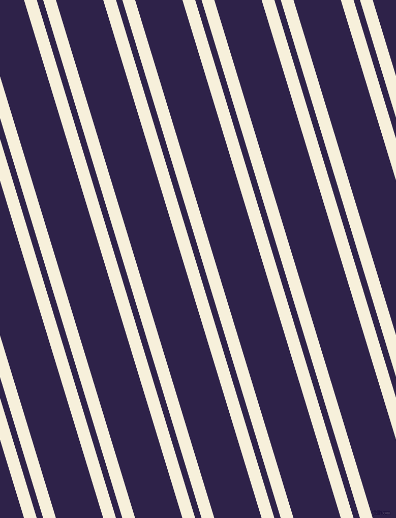 107 degree angle dual striped line, 24 pixel line width, 12 and 89 pixel line spacing, Apricot White and Violent Violet dual two line striped seamless tileable