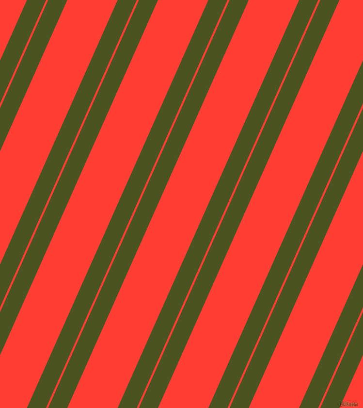 66 degree angle dual stripes line, 36 pixel line width, 4 and 95 pixel line spacing, Army green and Red Orange dual two line striped seamless tileable