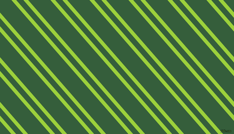 131 degree angles dual stripes line, 12 pixel line width, 18 and 56 pixels line spacing, Atlantis and Hunter Green dual two line striped seamless tileable
