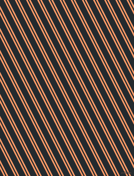 117 degree angles dual stripe line, 5 pixel line width, 4 and 20 pixels line spacing, Atomic Tangerine and Cinder dual two line striped seamless tileable