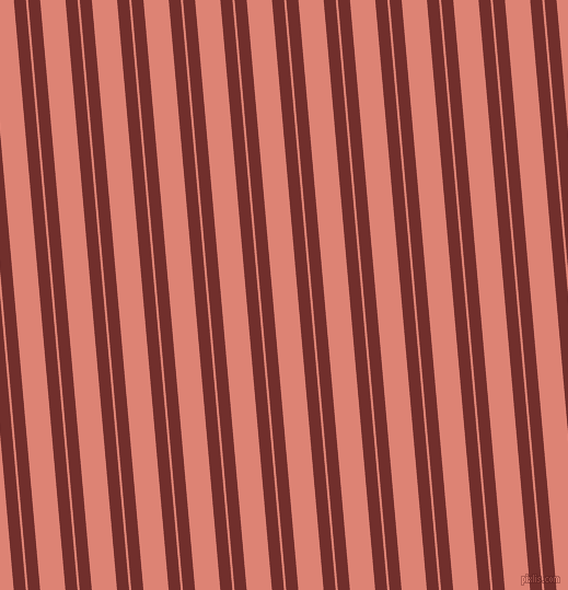 95 degree angle dual stripes line, 11 pixel line width, 2 and 23 pixel line spacing, Auburn and New York Pink dual two line striped seamless tileable
