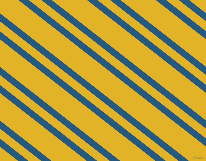 142 degree angles dual stripe lines, 21 pixel lines width, 26 and 72 pixels line spacing, Bahama Blue and Gold Tips dual two line striped seamless tileable