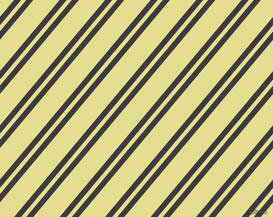50 degree angle dual stripe lines, 11 pixel lines width, 8 and 41 pixel line spacing, Baltic Sea and Primrose dual two line striped seamless tileable