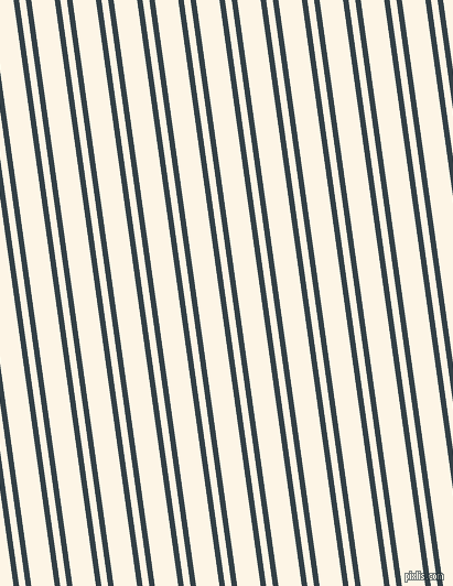 98 degree angles dual stripe lines, 5 pixel lines width, 6 and 21 pixels line spacing, Big Stone and Old Lace dual two line striped seamless tileable