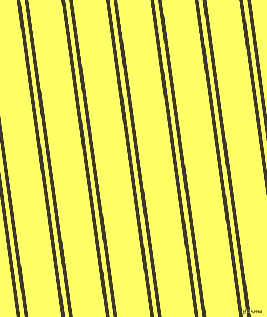 98 degree angle dual stripes line, 7 pixel line width, 8 and 64 pixel line spacing, Birch and Laser Lemon dual two line striped seamless tileable