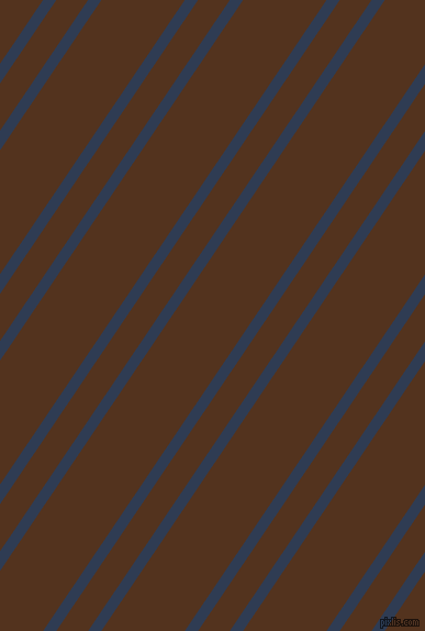 56 degree angles dual stripes line, 10 pixel line width, 24 and 63 pixels line spacing, Biscay and Brown Bramble dual two line striped seamless tileable
