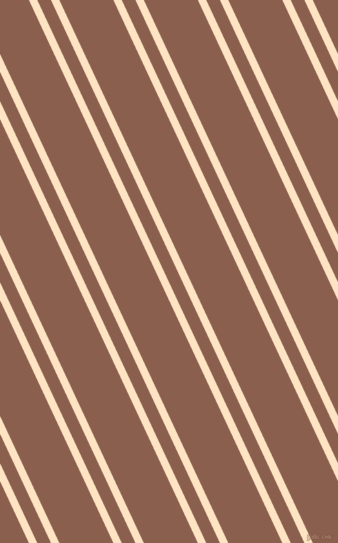 115 degree angle dual striped lines, 11 pixel lines width, 18 and 71 pixel line spacing, Bisque and Spicy Mix dual two line striped seamless tileable