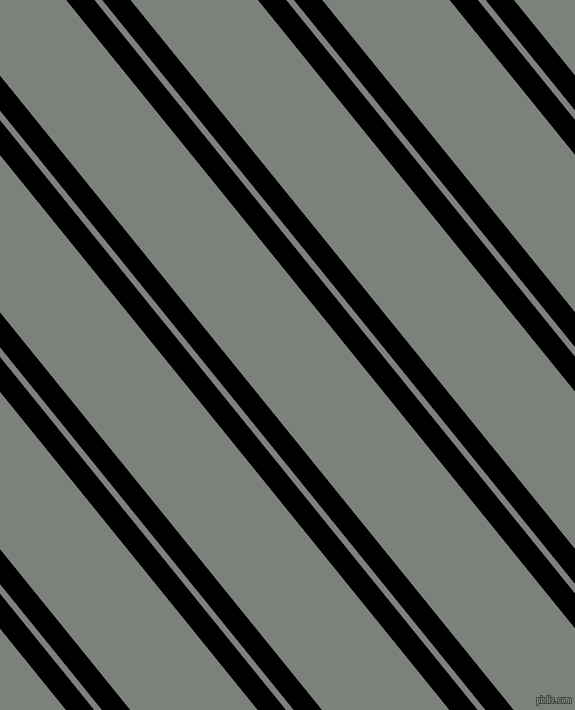 129 degree angle dual stripes lines, 22 pixel lines width, 6 and 99 pixel line spacing, Black and Boulder dual two line striped seamless tileable