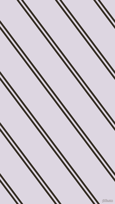 127 degree angles dual striped lines, 6 pixel lines width, 6 and 85 pixels line spacing, Black Magic and Titan White dual two line striped seamless tileable
