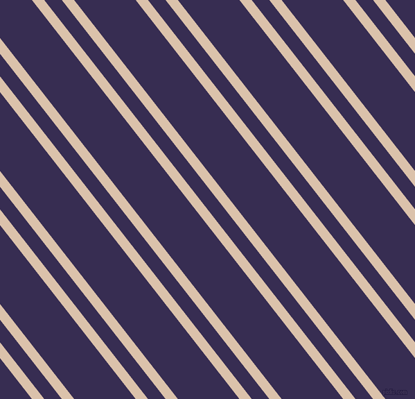 128 degree angles dual stripes lines, 14 pixel lines width, 20 and 70 pixels line spacing, Bone and Cherry Pie dual two line striped seamless tileable
