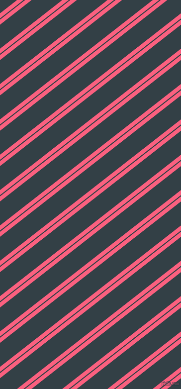 38 degree angle dual striped line, 8 pixel line width, 2 and 38 pixel line spacing, Brink Pink and Big Stone dual two line striped seamless tileable
