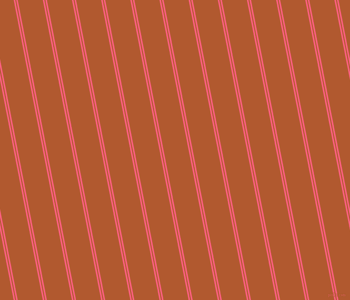 101 degree angle dual stripes line, 3 pixel line width, 2 and 49 pixel line spacing, Brink Pink and Fiery Orange dual two line striped seamless tileable