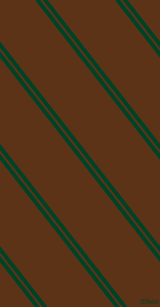 128 degree angles dual striped line, 8 pixel line width, 4 and 106 pixels line spacing, British Racing Green and Baker