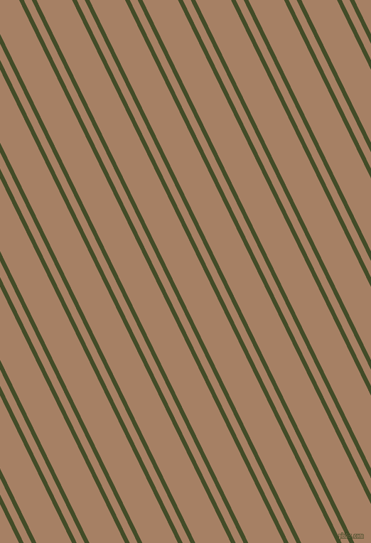 116 degree angles dual stripes line, 6 pixel line width, 10 and 45 pixels line spacing, Bronzetone and Medium Wood dual two line striped seamless tileable