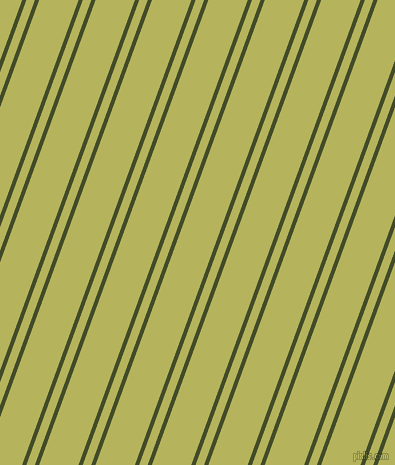 70 degree angle dual stripes lines, 4 pixel lines width, 8 and 37 pixel line spacing, Bronzetone and Olive Green dual two line striped seamless tileable