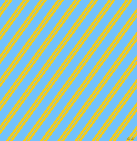 54 degree angles dual stripes lines, 8 pixel lines width, 2 and 26 pixels line spacing, Broom and Maya Blue dual two line striped seamless tileable