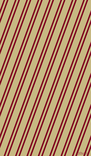 70 degree angles dual stripe line, 5 pixel line width, 6 and 21 pixels line spacing, Burgundy and Yuma dual two line striped seamless tileable