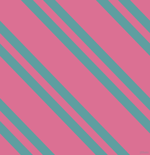 134 degree angle dual stripes lines, 36 pixel lines width, 30 and 122 pixel line spacing, Cadet Blue and Pale Violet Red dual two line striped seamless tileable