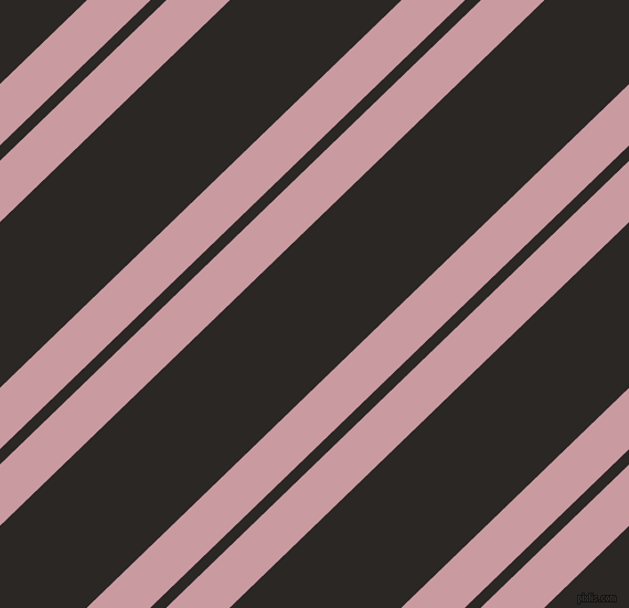 44 degree angles dual striped lines, 40 pixel lines width, 10 and 108 pixels line spacing, Careys Pink and Bokara Grey dual two line striped seamless tileable