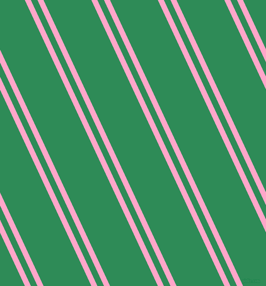 115 degree angles dual stripes line, 11 pixel line width, 12 and 87 pixels line spacing, Carnation Pink and Sea Green dual two line striped seamless tileable