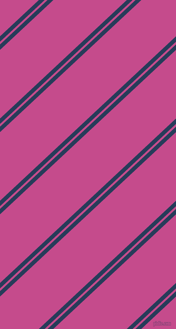43 degree angles dual stripes line, 8 pixel line width, 4 and 101 pixels line spacing, Catalina Blue and Mulberry dual two line striped seamless tileable