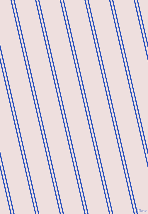 103 degree angle dual stripes lines, 4 pixel lines width, 6 and 68 pixel line spacing, Cerulean Blue and Soft Peach dual two line striped seamless tileable