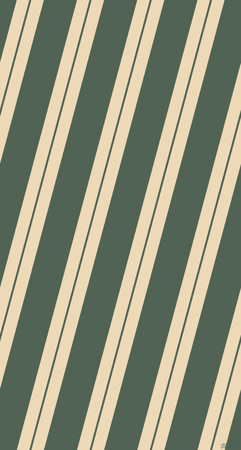 75 degree angle dual striped lines, 25 pixel lines width, 4 and 66 pixel line spacing, Champagne and Mineral Green dual two line striped seamless tileable