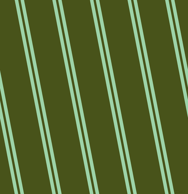 101 degree angle dual stripes line, 12 pixel line width, 8 and 97 pixel line spacing, Chinook and Verdun Green dual two line striped seamless tileable