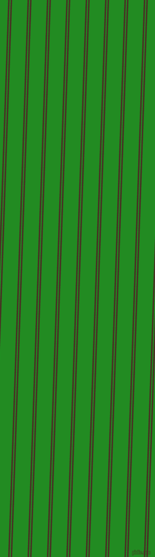 88 degree angles dual stripe line, 3 pixel line width, 2 and 30 pixels line spacing, Clinker and Forest Green dual two line striped seamless tileable