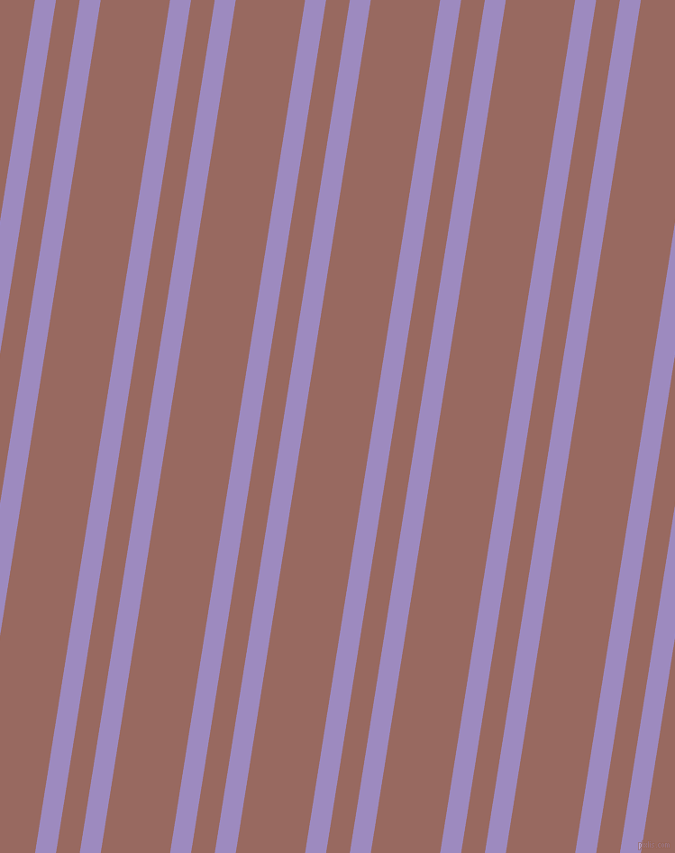 81 degree angles dual striped lines, 23 pixel lines width, 26 and 76 pixels line spacing, Cold Purple and Dark Chestnut dual two line striped seamless tileable