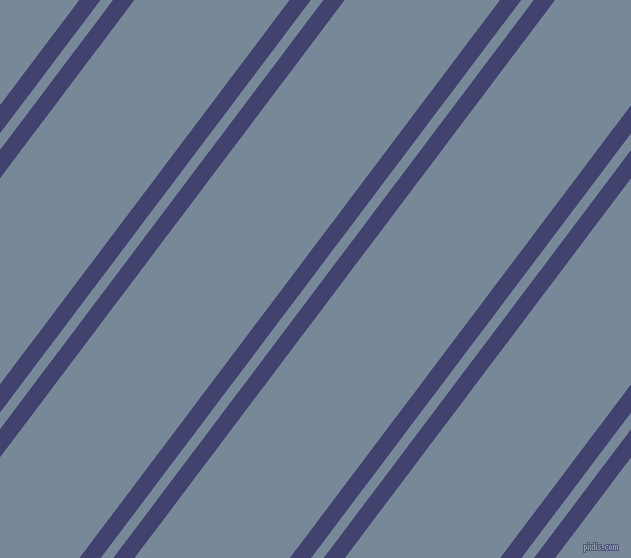 53 degree angle dual stripes lines, 17 pixel lines width, 10 and 124 pixel line spacing, Corn Flower Blue and Light Slate Grey dual two line striped seamless tileable