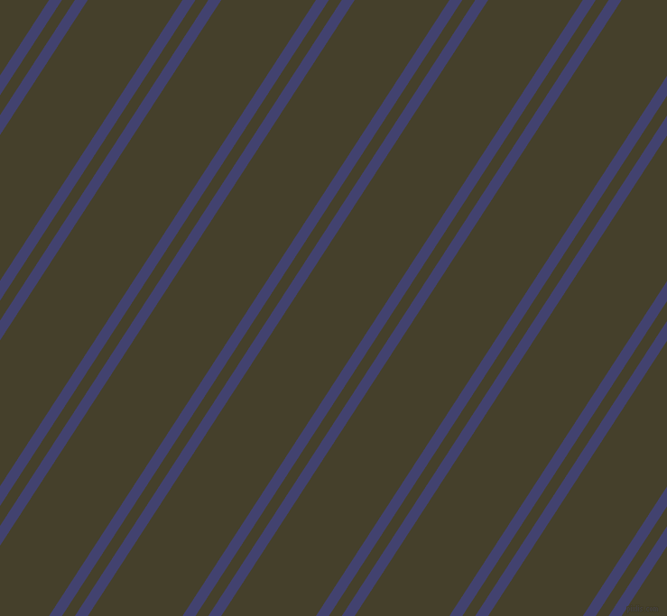 57 degree angle dual stripes line, 12 pixel line width, 12 and 88 pixel line spacing, Corn Flower Blue and Woodrush dual two line striped seamless tileable