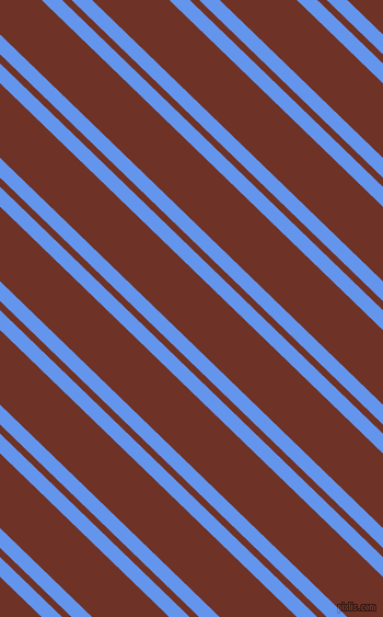 136 degree angle dual stripes line, 13 pixel line width, 6 and 49 pixel line spacingCornflower Blue and Pueblo dual two line striped seamless tileable