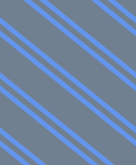141 degree angle dual stripes line, 16 pixel line width, 18 and 94 pixel line spacing, Cornflower Blue and Slate Grey dual two line striped seamless tileable