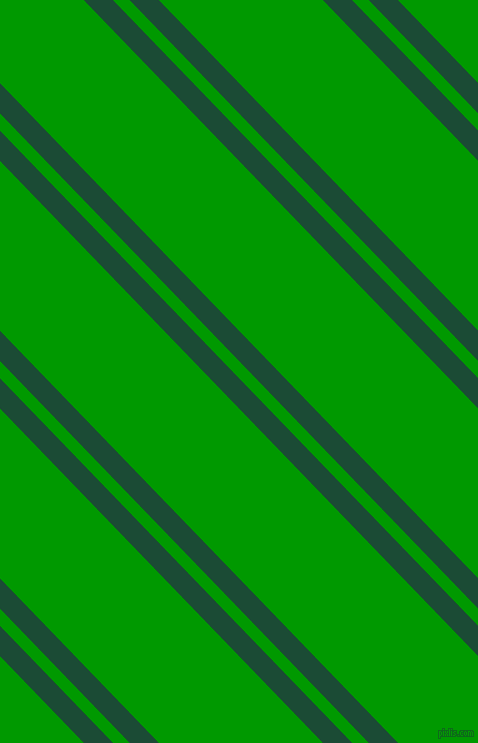 134 degree angles dual stripes line, 21 pixel line width, 12 and 118 pixels line spacing, County Green and Islamic Green dual two line striped seamless tileable
