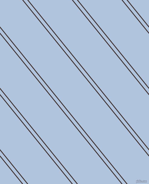 129 degree angles dual striped line, 3 pixel line width, 10 and 112 pixels line spacing, Cowboy and Light Steel Blue dual two line striped seamless tileable