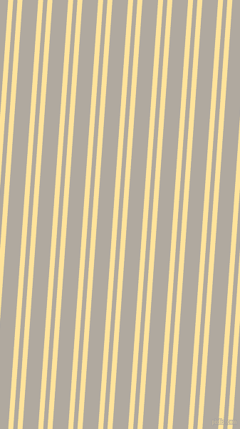 86 degree angles dual stripes line, 7 pixel line width, 6 and 22 pixels line spacing, Cream Brulee and Cloudy dual two line striped seamless tileable