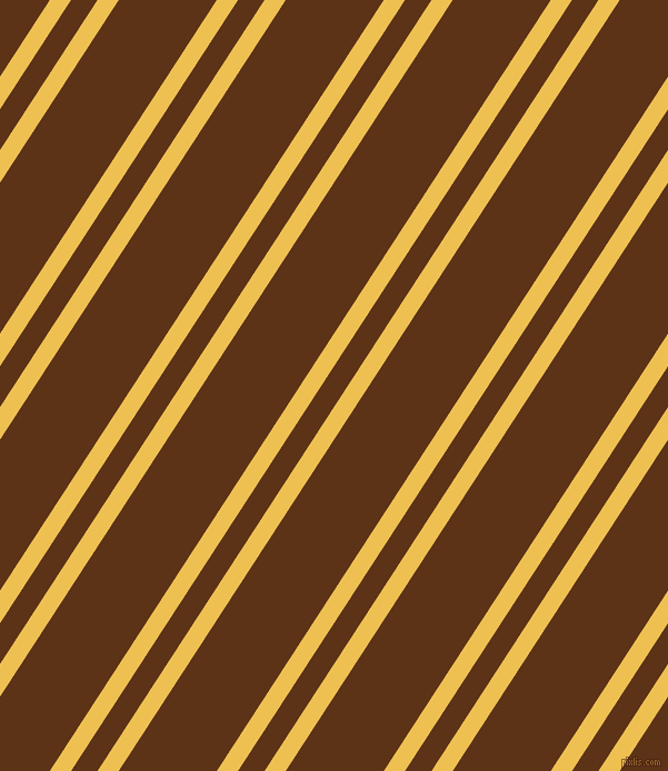 57 degree angle dual striped line, 16 pixel line width, 20 and 74 pixel line spacing, Cream Can and Baker