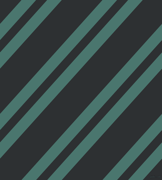 48 degree angle dual stripes line, 37 pixel line width, 28 and 103 pixel line spacing, Dark Green Copper and Cod Grey dual two line striped seamless tileable