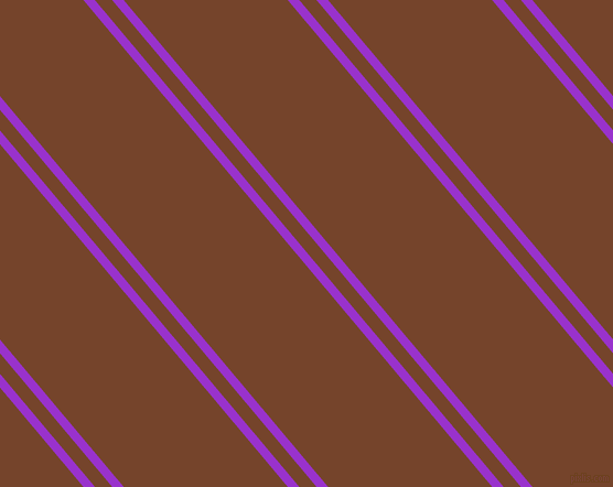130 degree angle dual stripes line, 8 pixel line width, 12 and 114 pixel line spacing, Dark Orchid and Bull Shot dual two line striped seamless tileable