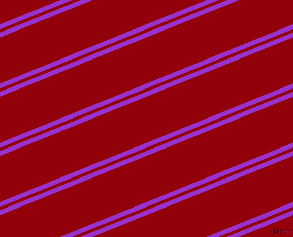 22 degree angles dual striped line, 9 pixel line width, 6 and 84 pixels line spacing, Dark Orchid and Sangria dual two line striped seamless tileable