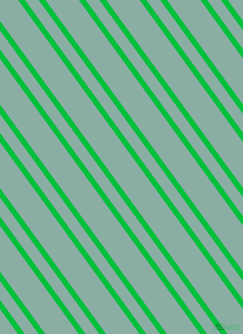 126 degree angles dual stripe lines, 8 pixel lines width, 16 and 39 pixels line spacing, Dark Pastel Green and Sea Nymph dual two line striped seamless tileable