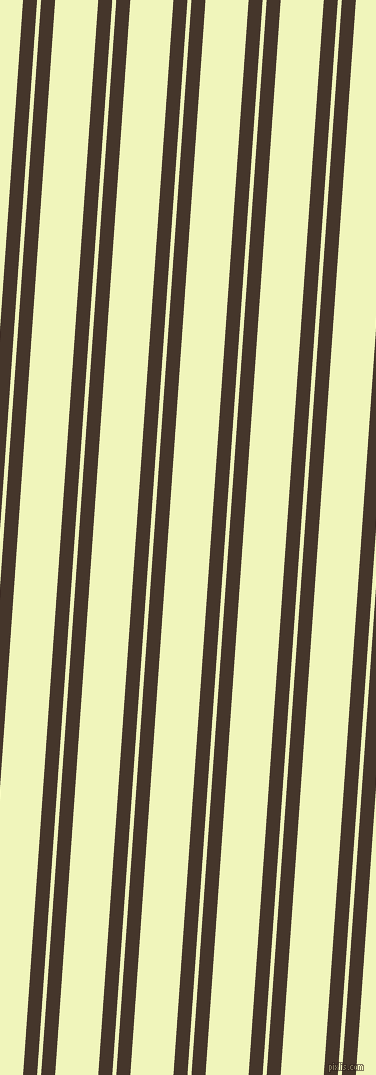 86 degree angles dual stripe line, 14 pixel line width, 4 and 43 pixels line spacing, Dark Rum and Chiffon dual two line striped seamless tileable