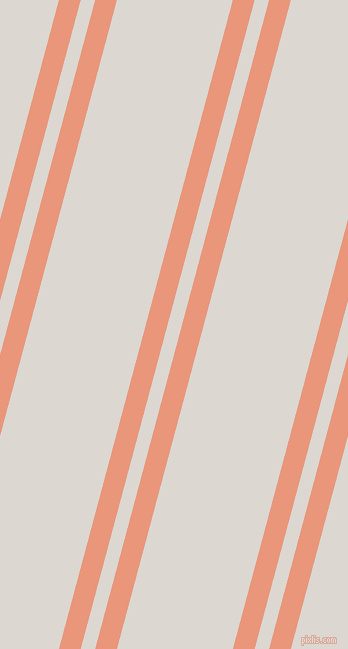 75 degree angle dual striped lines, 21 pixel lines width, 14 and 112 pixel line spacing, Dark Salmon and Gallery dual two line striped seamless tileable