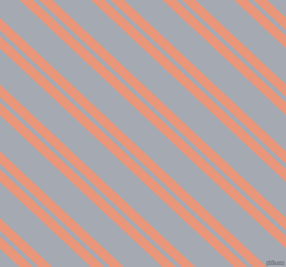 137 degree angle dual stripe line, 18 pixel line width, 8 and 52 pixel line spacing, Dark Salmon and Mischka dual two line striped seamless tileable