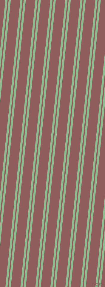 84 degree angle dual stripe lines, 7 pixel lines width, 4 and 32 pixel line spacing, Dark Sea Green and Rose Taupe dual two line striped seamless tileable
