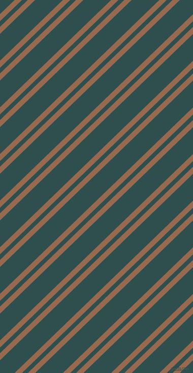 44 degree angle dual stripe line, 10 pixel line width, 8 and 38 pixel line spacing, Dark Tan and Dark Slate Grey dual two line striped seamless tileable