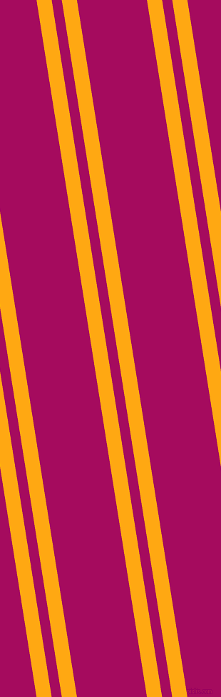 99 degree angle dual stripe lines, 21 pixel lines width, 14 and 97 pixel line spacing, Dark Tangerine and Jazzberry Jam dual two line striped seamless tileable