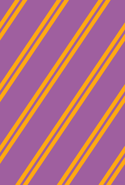 56 degree angle dual stripes line, 14 pixel line width, 8 and 85 pixel line spacing, Dark Tangerine and Violet Blue dual two line striped seamless tileable